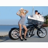 Hot Chick Bike Model Wallpaper 17