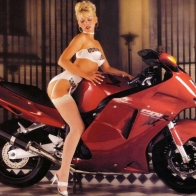 Hot Chick Bike Model Wallpaper 186