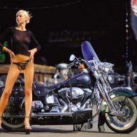 Hot Chick Bike Model Wallpaper 18