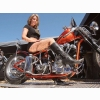 Hot Chick Bike Model Wallpaper 24