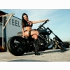 Hot Chick Bike Model Wallpaper 30