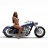 Hot Chick Bike Model Wallpaper 32