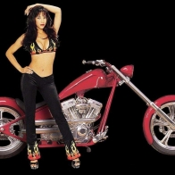 Hot Chick Bike Model Wallpaper 33