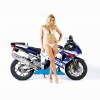 Hot Chick Bike Model Wallpaper 36