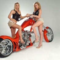 Hot Chick Bike Model Wallpaper 42