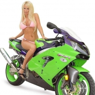 Hot Chick Bike Model Wallpaper 51