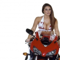 Hot Chick Bike Model Wallpaper 53