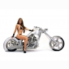 Hot Chick Bike Model Wallpaper 54