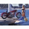 Hot Chick Bike Model Wallpaper 8