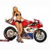 Hot Chick Hot Bike Wallpaper