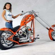 Hot Chick Model Bike Wallpaper
