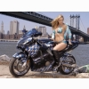 Hot Girl On Bike Wallpaper