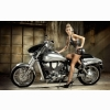 Hot Girl On Motorcycle Wallpaper