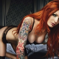 Girl With Tattoos Wallpaper