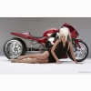 Hot Girls And Motorcycle Wallpaper