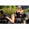 Hot On A Harley Wallpaper