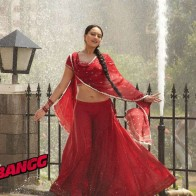 Sonakshi Sinha In Red Saree