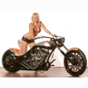 Hottie Model Bike Wallpaper