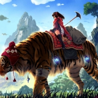 Huge Tiger Ride Wallpapers