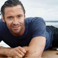 Hugh Jackman Sleeping In Beach