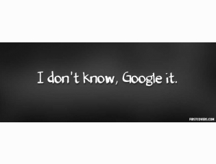I Dont Know Google It Cover