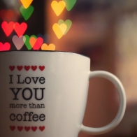 I Love You More Than Cofee Wallpaper