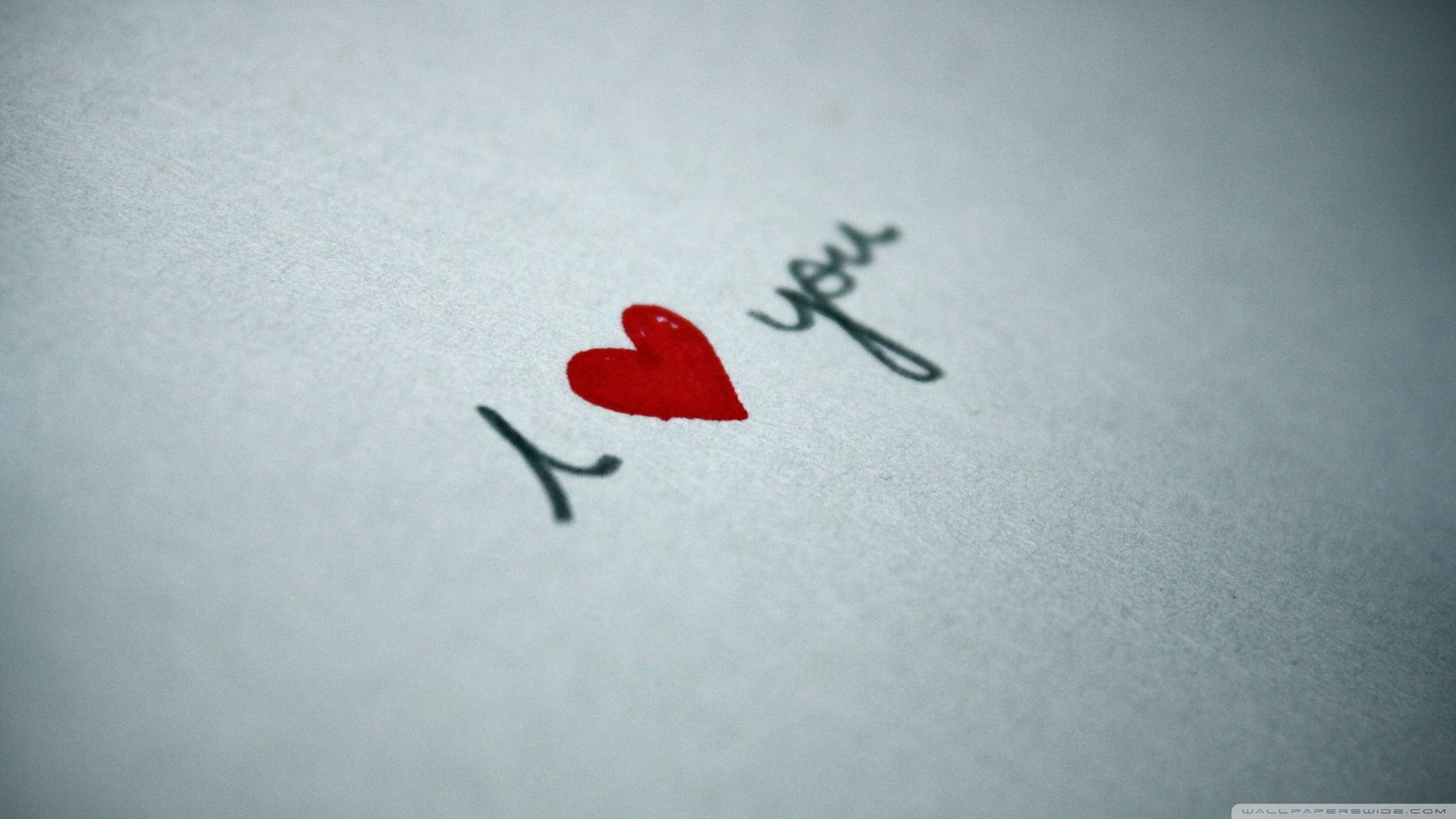 I Love You Written On Paper Wallpaper : Hd Wallpapers