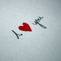 I Love You Written On Paper Wallpaper
