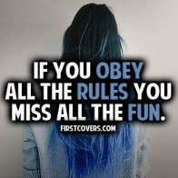 If You Obey All The Rules Cover