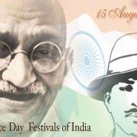 Inadia15 August With Gandhiji And Bhagat Singh
