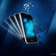 Iphone In Blue Wallpapers