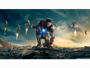 Iron Man 3 Iron Man Vs Mandarin Wallpaper
