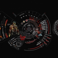 Iron Man Suit Diagnostic Wallpaper