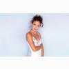 Josie Maran In White Dress Wallpaper