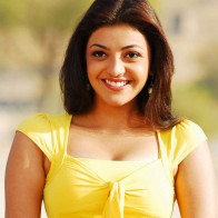 Kajal Agarwal Yellow Top Wallpaper