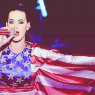 Katy Perry American Flag Dress Wallpaper