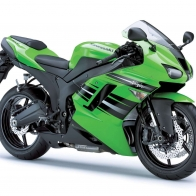 Kawasaki Ninja Zx 6r Blue Green Wallpapers