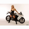 Ktm Rc8 Amp Hot Girl Wallpaper