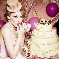 Kylie Minogue Pink Party Wallpaper