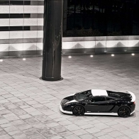 Lamborghini Gallardo Black And White Edition Wallpaper