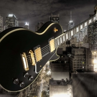 Les Paul In The City Wallpaper