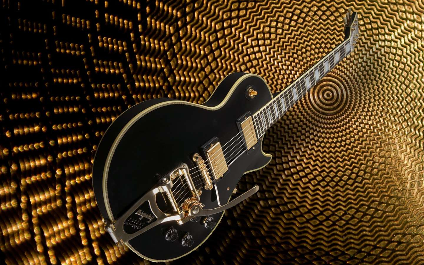 Les Paul With Bigsby Wallpaper : Hd Wallpapers