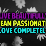 Live Beautifully Dream Passionately Love Completely Cover