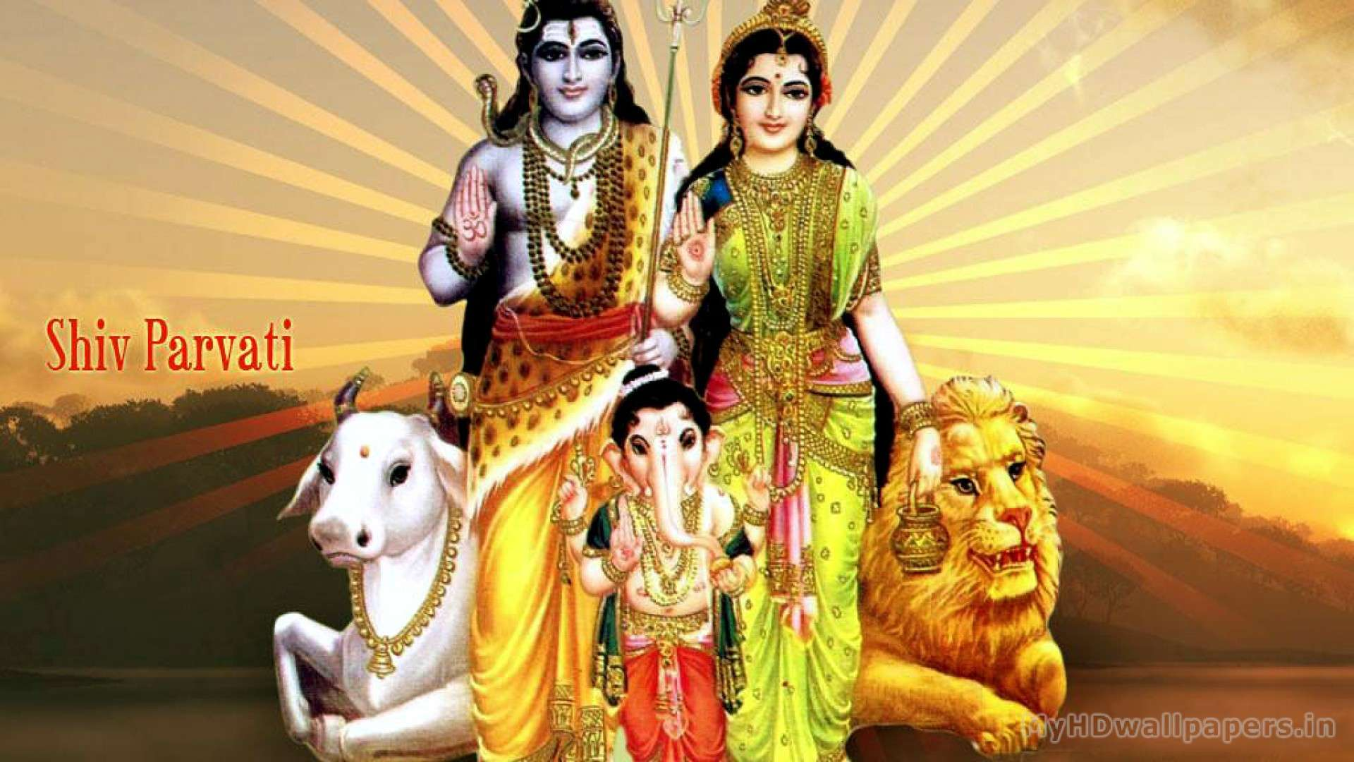 view of lord shiva family wallpapers high resolution hd