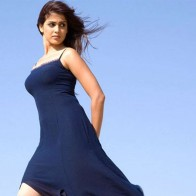 Lovely Genelia In Blue Wallpaper
