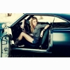 Lovely Girl In Old Car Hd Wallpaper