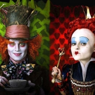 Mad Hatter And Red Queen Wallpaper