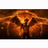 Man Angel Fire Wing Hand