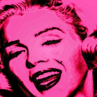 Marilyn In Pink Wallpaper