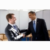 Medvedev And Obama Handshake